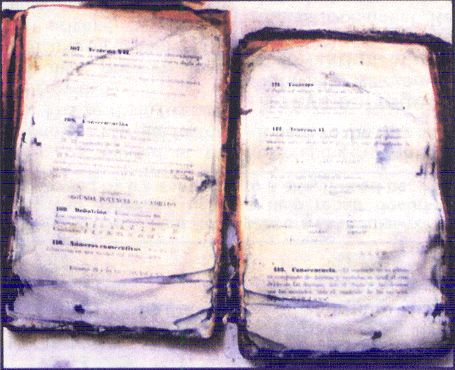 Math book recovered from the Titanic wreckage.