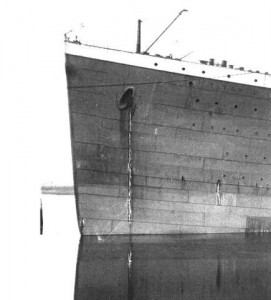 Better view of the lack of joint plating on the Titanic.
