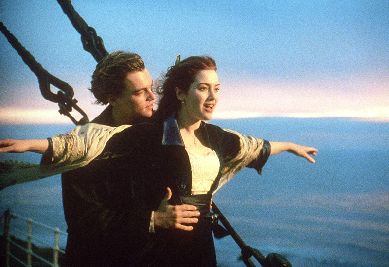 Scene from 1997's Titanic movie