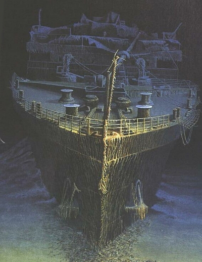 Titanic wreck the rms titanic shipwreck titanic wreckage for How many floors did the titanic have
