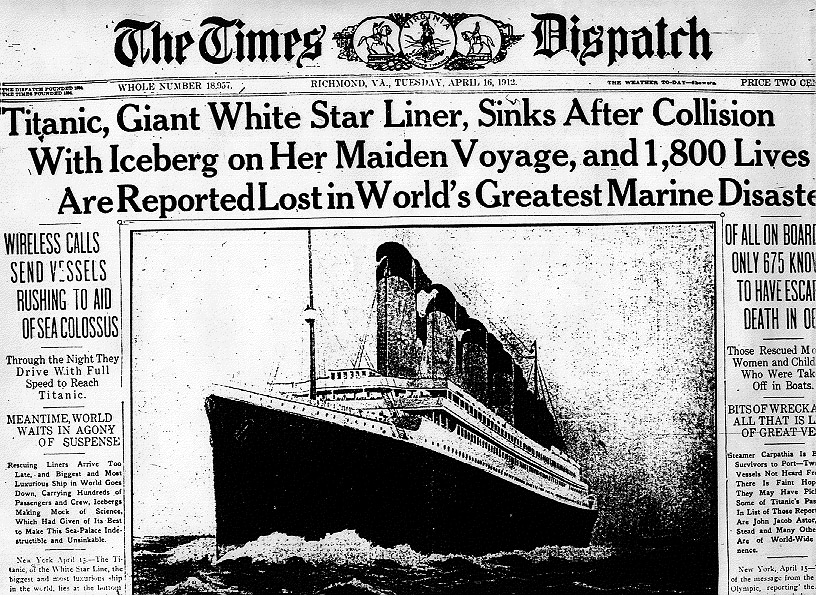 essay on the titanic disaster Why did the titanic sink this disaster has affected the world as a whole, as there were people from different countries and social status that lost their lives.