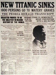 Account of the sinking of the Titanic in the Peoria Herald-Transcript
