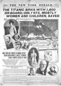 New York Herald's coverage of the Titanic disaster