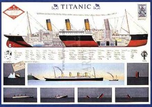 Poster showing the Titanic layout in detail