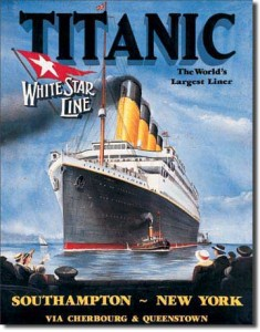 Poster from the White Star Line depiciting the Titanic