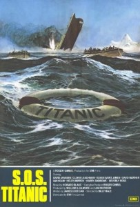 Movie poster from the 1979 film SOS Titanic