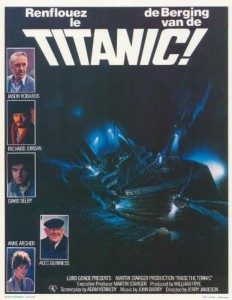 Movie poster from the original Titanic movie