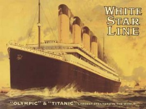 Poster of the White Star Lines' Titanic