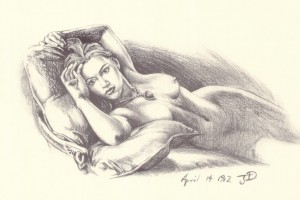 Sketch from the 1997 Titanic film