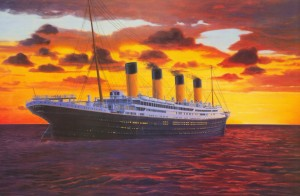 Artist rendering of the famous Titanic