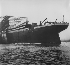 Titanic on its first launch.