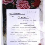 Titanic Carpathia Menu