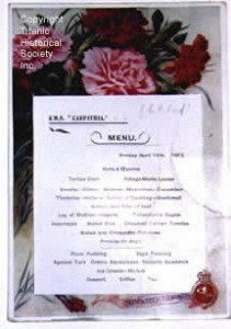 Carpathia menu