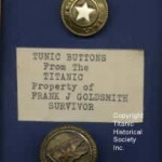 Titanic Survivor White Star Buttons