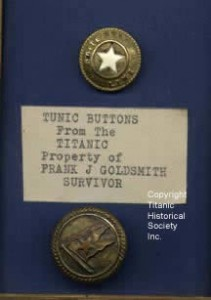 White Star buttons from a Titanic survivor