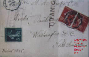 Registered mail for Titanic
