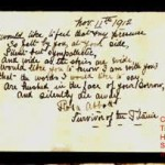 Titanic Journal Passage