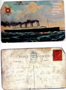 Postcard written aboard the Titanic