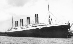 Titanic before its maiden voyage