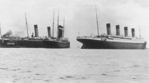 Titanic on her way