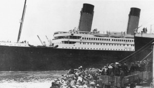 Titanic leaving Southhampton