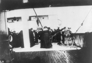 Titanic survivors on the Carpathia