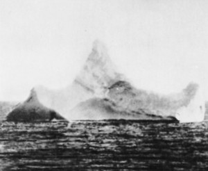 Titanic History - The Iceberg? An iceberg located very close.