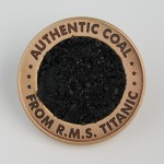 titanic coal coin - front view