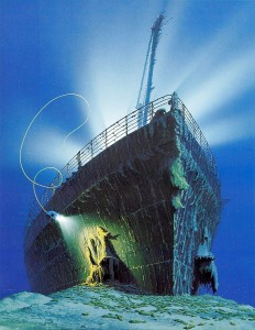 Titanic Dive Expedition - Titanic by Ken Marschall T1987a
