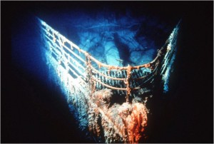 Photo of Titanic bow
