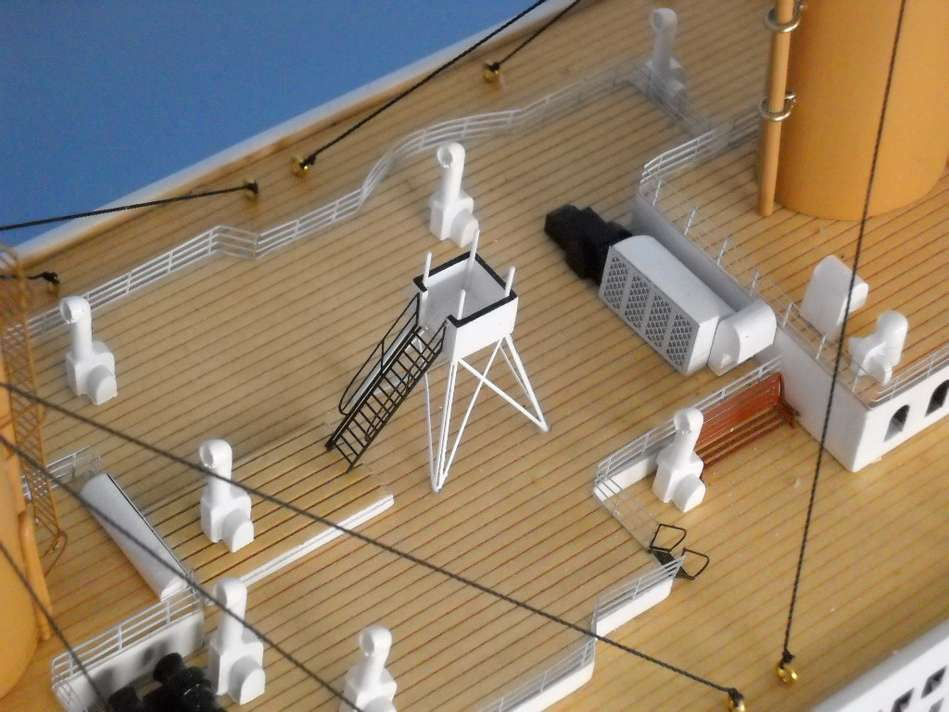 Scale deck chairs and windows Rigging mimic exactly the acutal Titanic ...