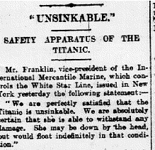 Was the Titanic sinking the result of bad marketing?