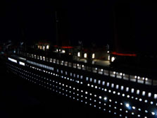 Titanic with Lights ship model 50