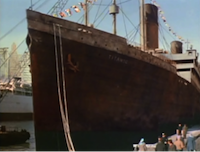 titanic at port