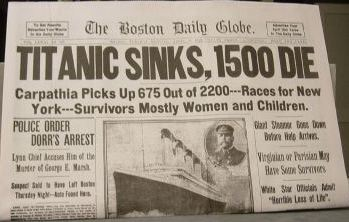 the statistics of the most popular water tragedy the sinking of the titanic But the watertight compartment design contained a flaw that was a critical factor in titanic's sinking: water line, so water popular culture many view the.