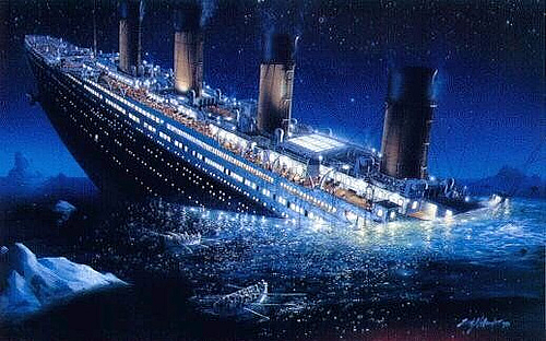 how long did it take for the titanic to sink