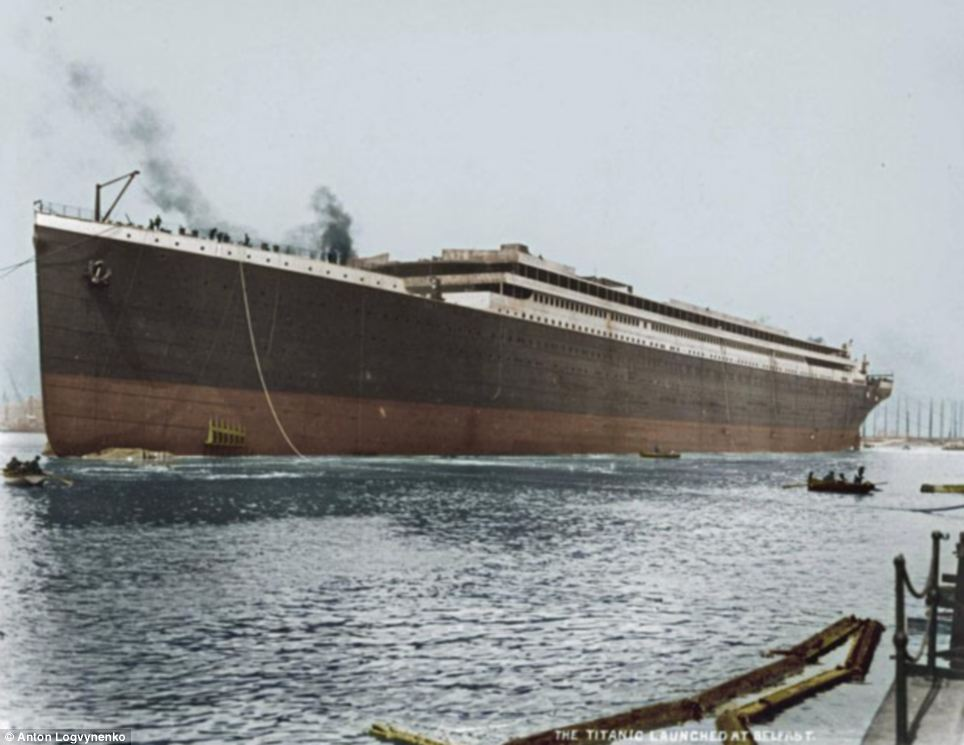 Titanic Construction Complete Heading For Dry Dock