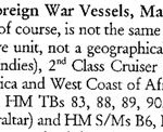 Naval Vessel List