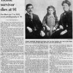 New York Times Titanic Passenger Story