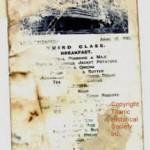 Titanic Third Class Menu