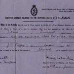 Titanic Death Certificate