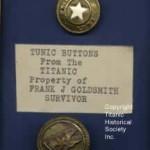 Titanic Survivor White Star Buttons