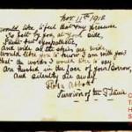 Titanic Journal Passage